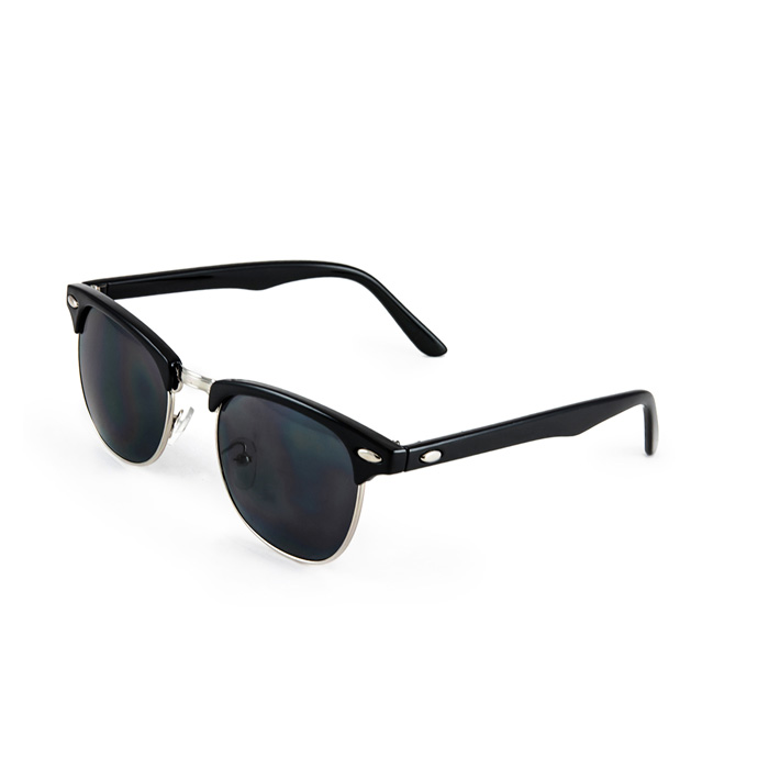 Clubmaster Style Sunglasses  half frame vintage clubmaster style classic sunglasses black